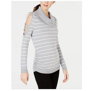 NWT Hooked Up by I.O.T. Cold Shoulder Sweater
